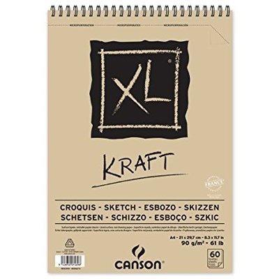 Альбом Canson XL Kraft Paper Pad 90гр, 15х21, 40 листов