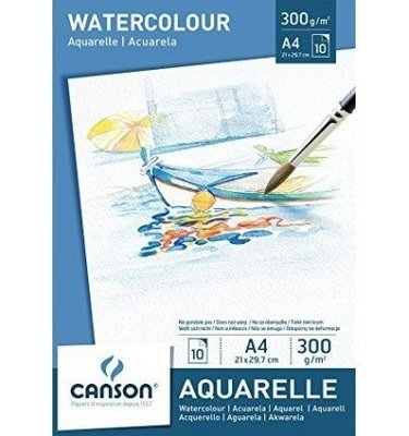 Альбом Canson Watercolour Drawing Paper A5 300гр 10л