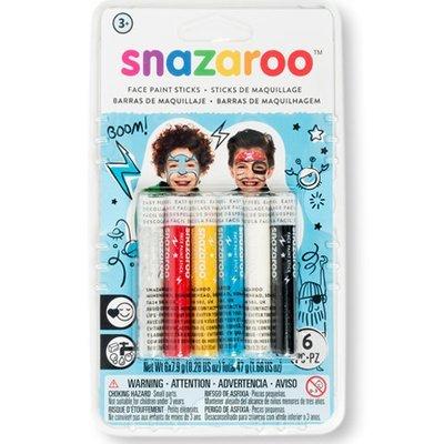 Набор Snazaroo красок-мелков для лица, 5 цветов ( хватает на 20 лиц )