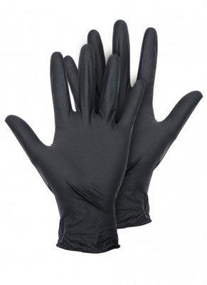 Перчатки нитриловые черные - пара М