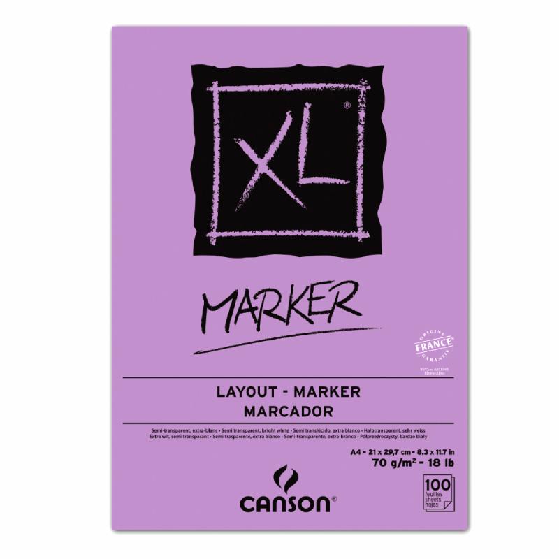 Альбом для маркеров Canson XL Marker Pad (A4, 70г/м2, 100 листов) 200297236