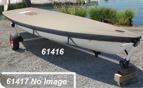 Gray Polyester Vanguard 15 Sailboat Boat Deck Cover