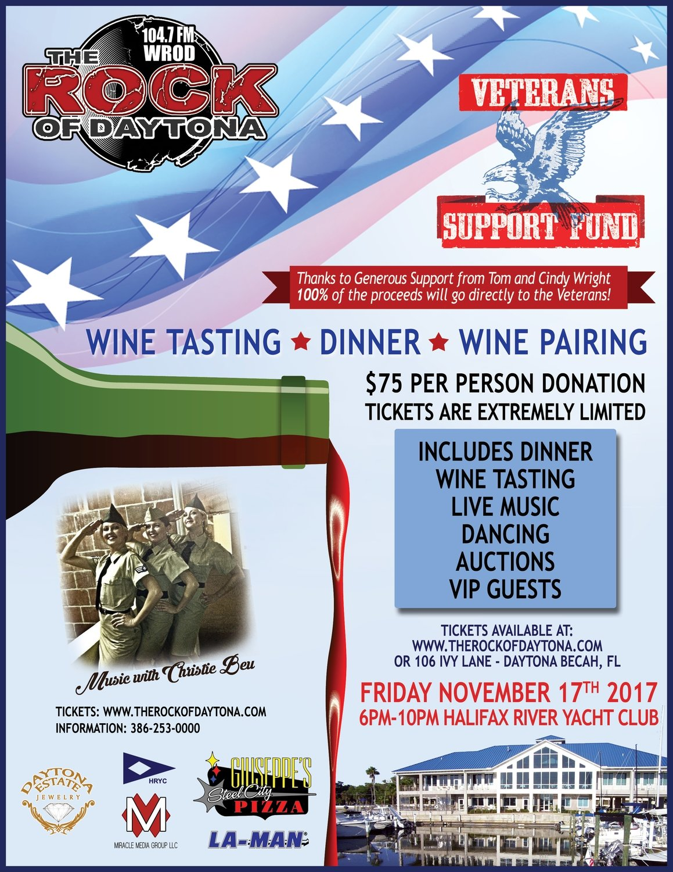 Wine Tasting - Dinner - Dancing for the Veterans
