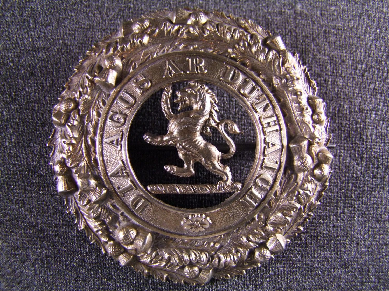 5th (Perthshire) Volunteer Battalion, The Black Watch (Royal Highlanders),  Victorian piper`s plaid brooch