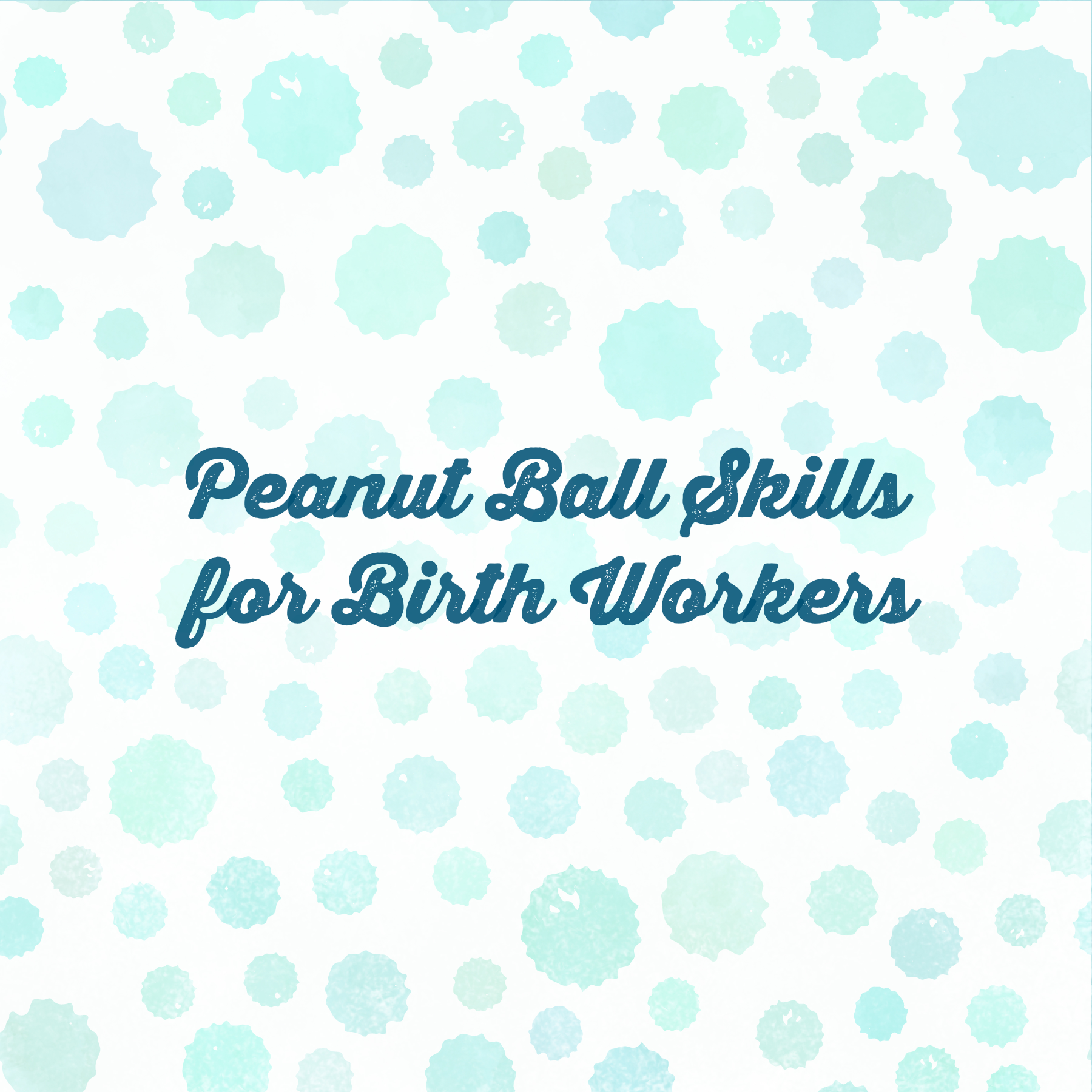 Peanut Ball Skills for Birth Workers peanutball1