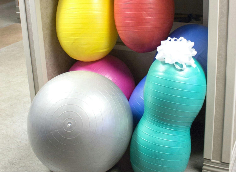 Various sizes of peanut & round balls