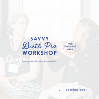 Savvy Birth Pro Workshop - Evidence Based Birth®