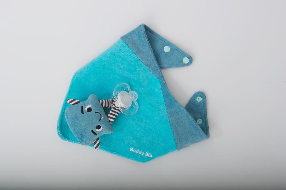 "Buddy Bib - Aqua Blue - ""Munch"" The Malarkey Monster"