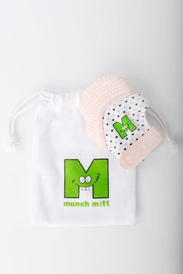 Munch Mitt - Pastel Pink Hearts MM0PH