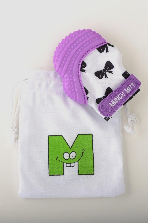 Munch Mitt - Purple Shimmer - Bows