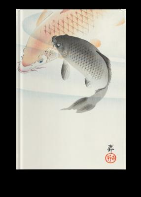 Libreta Dos carpas de Ohara Koson