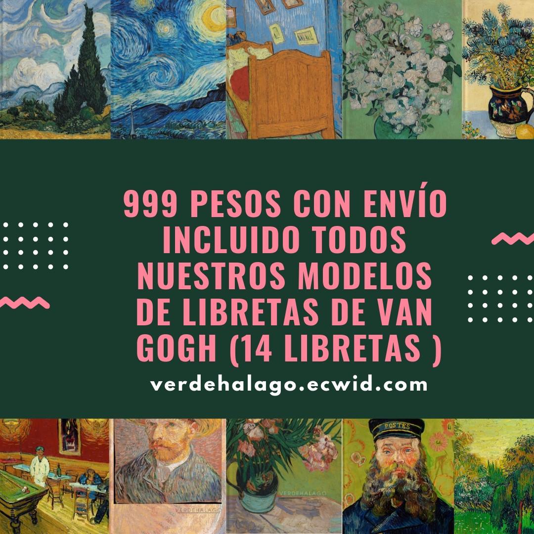14 libretas Van Gogh distintas por 999 pesos con envío incluido.