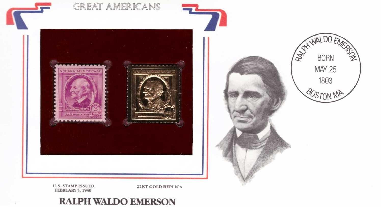 Ralph Waldo Emerson, Timbre y réplica con chapa de oro de 22k
