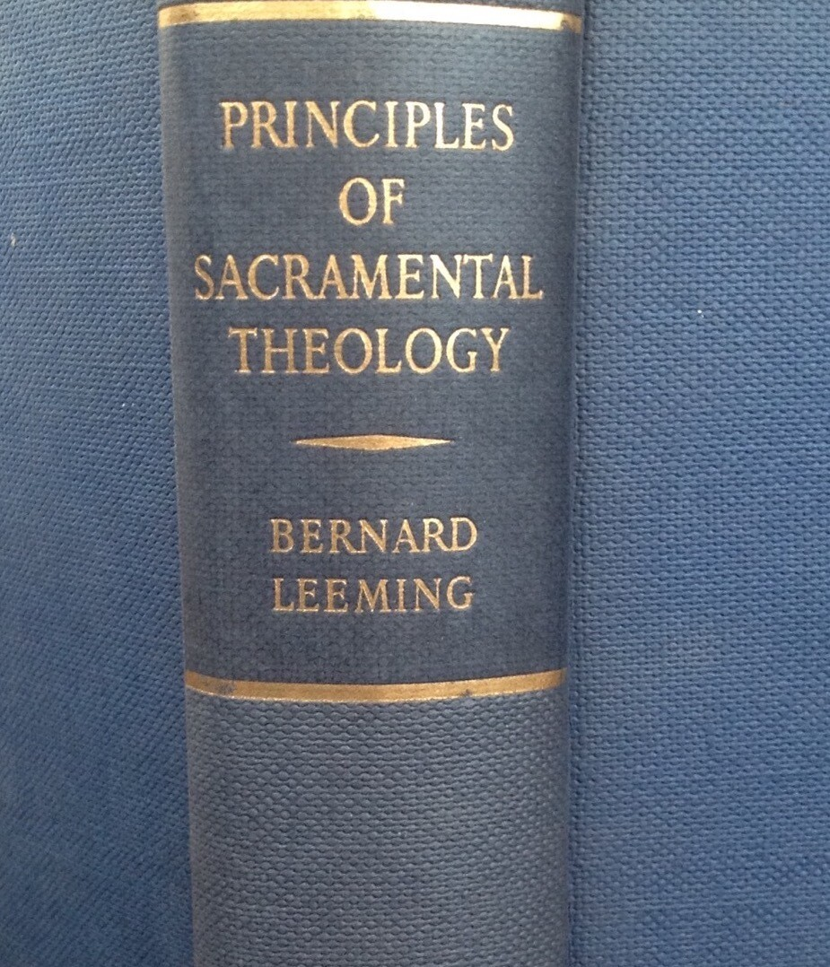 Principles of Sacramental Theology
