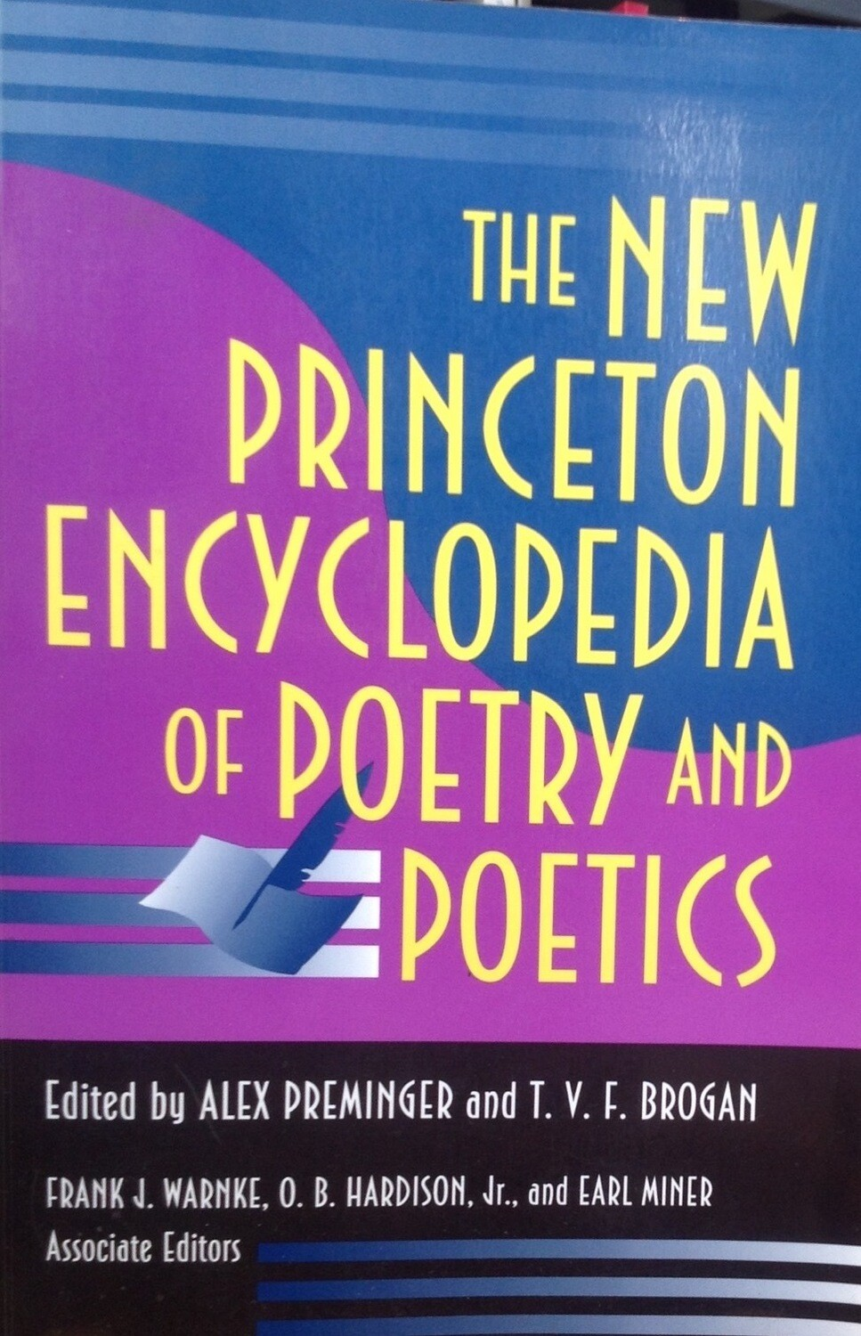 The New Princeton Enciclopedia of Poetry and Poetics