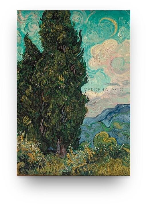 Libreta Van Gogh Cipreses