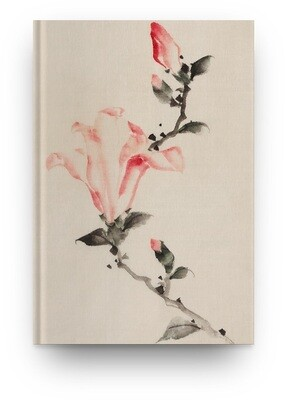 Libreta Katsushika Hokusai Flor rosa