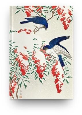Libreta Ohara Koson Flores pájaros