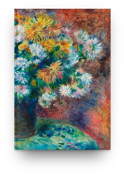 Libreta Pierre-Auguste Renoir Crisantemos