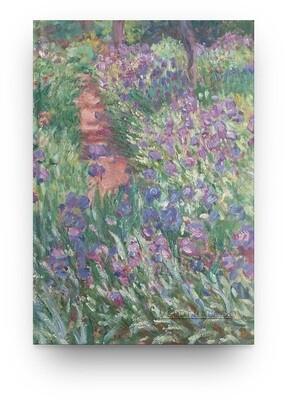 Libreta Claude Monet jardín