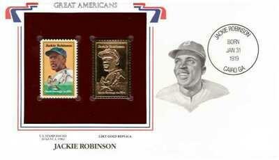 Jackie Robinson, Timbre y réplica 22 k
