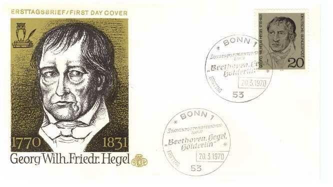 Hegel, Sobre primer día