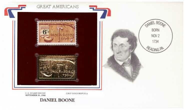 Daniel Boone, Timbre y réplica 22 k