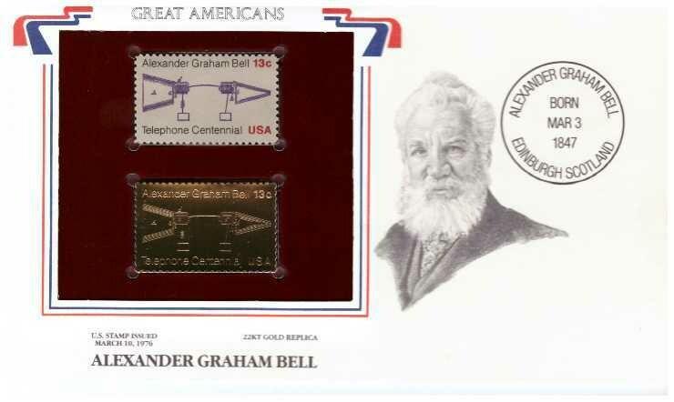 Alexander Graham Bell, Timbre y réplica 22 k