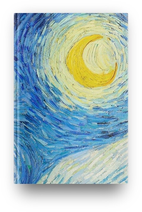 Libreta luna (noche estrellada) de Van Gogh