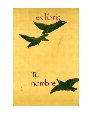 ex libris personalizado 64 piezas [Cuervos]