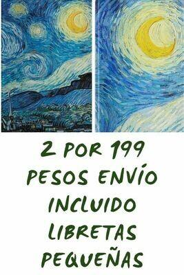 Noche estrellada y Luna de Van Gogh 199 pesos envío incluido (pequeñas)