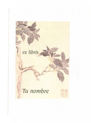 ex libris personalizado 64 piezas [Flor 01] envío incluido