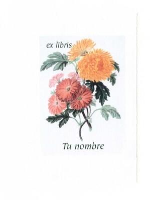 ex libris personalizado 64 piezas [Flor 03] envío incluido