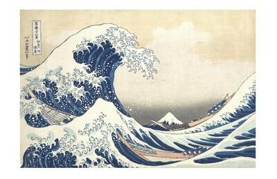 La Ola Katsushika Hokusai, impresión [No incluye marco]