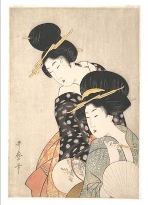 Dos mujeres de Kitagawa Utamaro, impresión [No incluye marco]