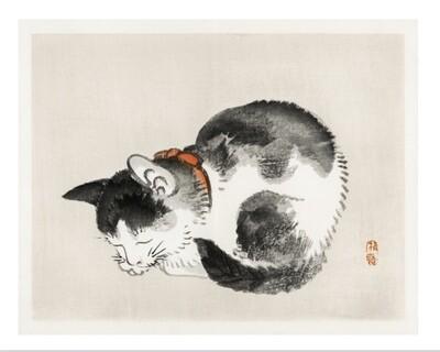 Gato de Kono Bairei, impresión [No incluye marco]