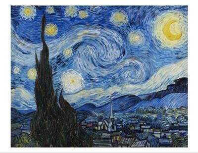 Noche estrellada de Van Gogh, impresión [No incluye marco]