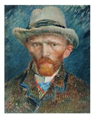 Autorretrato de Van Gogh 02, impresión [No incluye marco]