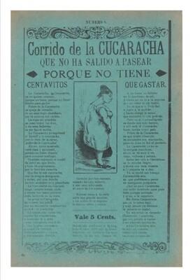La Cucaracha de José Guadalupe Posada, impresión [No incluye marco]