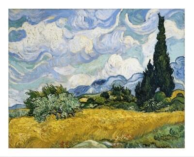 Ciprés de Van Gogh, impresión [No incluye marco]