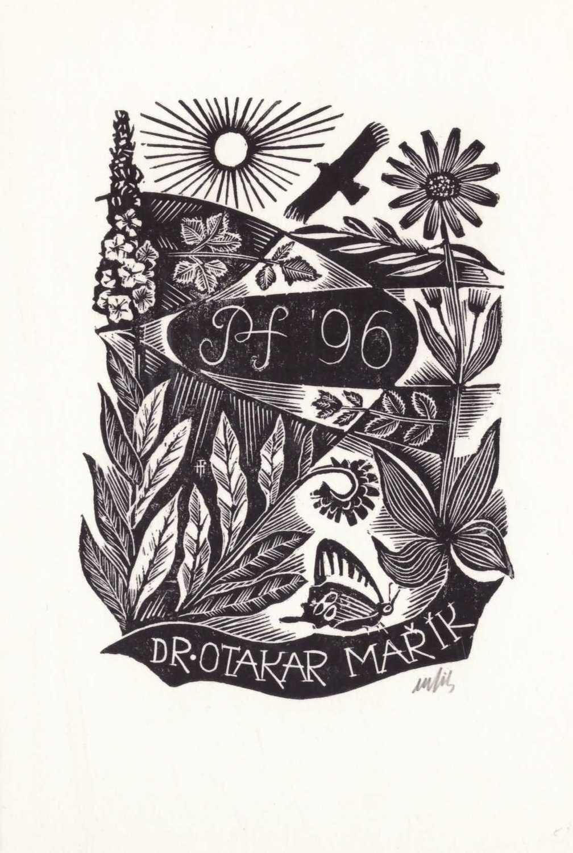 Ex libris Dr Otakar Maric, firmado [002]