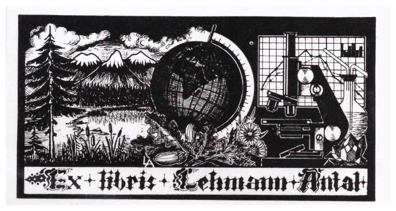 Ex libris Lehemann Anlal