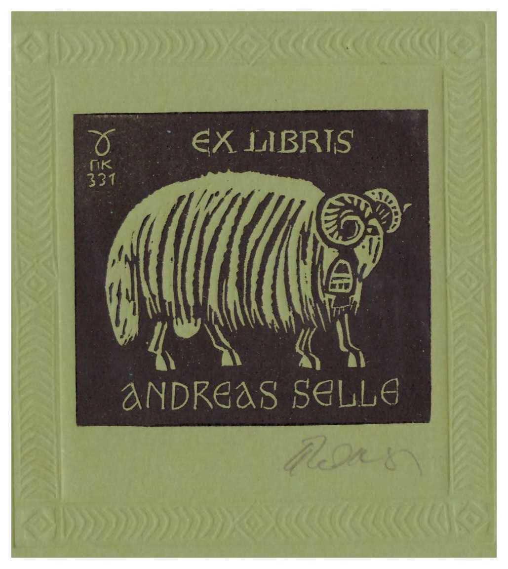 Ex libris Andreas Selle firmado