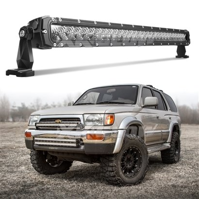 "XKGlow 30"" 150W LED Light Bar - Spot/Flood Combo 12,840 Lumens CREE LED Offroad Work Light with 3D Optics"