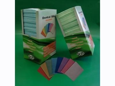 Οδοντιατρική πετσέτα χωρίς λαιμόκοψη κίτρινη 33εκ x 45εκ (500 τεμάχια)