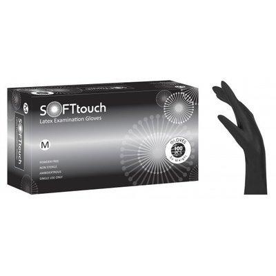 Γάντια λάτεξ μαύρα χωρίς πούδρα Soft Touch (5,3 gr) 1000 τεμάχια