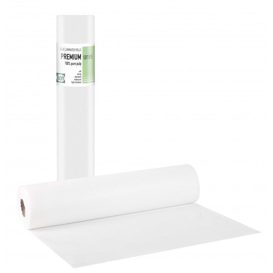 Πλαστικό+χαρτί κόλλα λευκό 68εκ x 50μ. (12 τεμάχια)