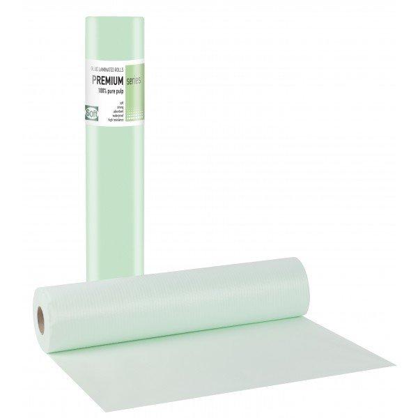 Πλαστικό+χαρτί κόλλα πράσινο 68εκ x 50μ. (12 τεμάχια)