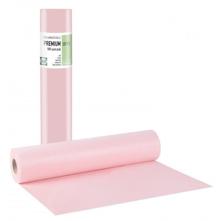 Πλαστικό+χαρτί κόλλα ροζ 50εκ x 50μ. (12 τεμάχια)