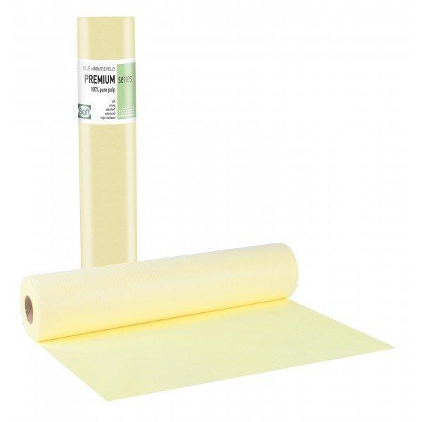 Πλαστικό+χαρτί κόλλα κίτρινο 50εκ x 50μ. (12 τεμάχια)